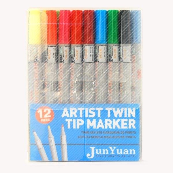 12pc Acetate Twin Tip Marker Art Set