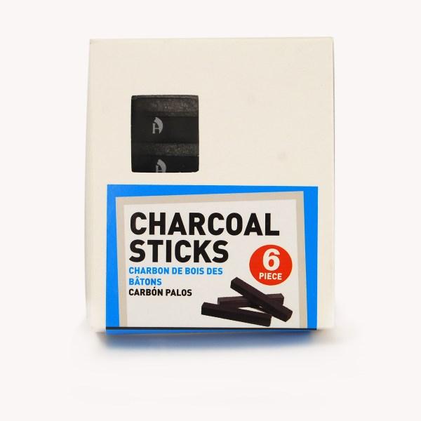 6pc Compressed Charcoal Stick Set