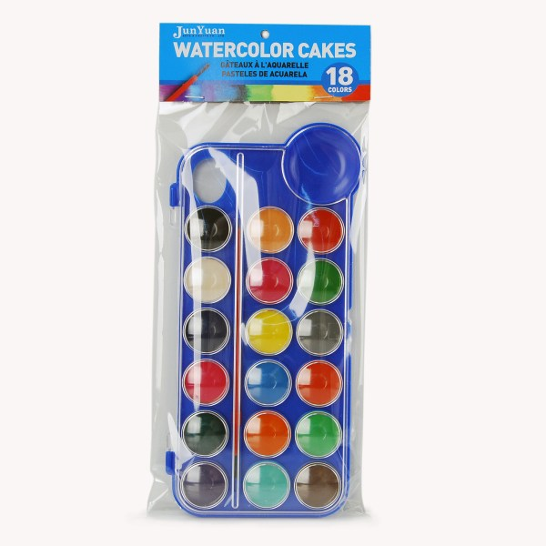 18pc Watercolor Cake Plastic Case Set