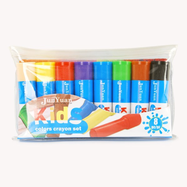 8pc Kids Retractable Crayon Set