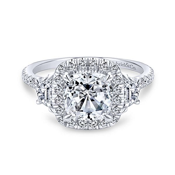 15972-diamond-.85ctw-halo-with-half-moon-and-diamonds-Gabriel-Mia-14k-White-Gold-Cushion-Cut-3-Stones-Halo-Engagement-Ring~ER9189W44JJ-1