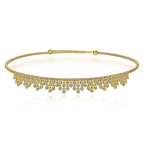 adjustable choker necklace with diamonds