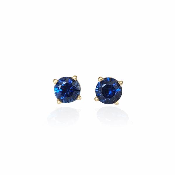 25389 14kt Blue Sapphire Stud Earrings
