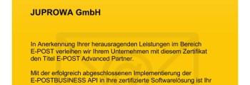 E-POST-Zertifikat