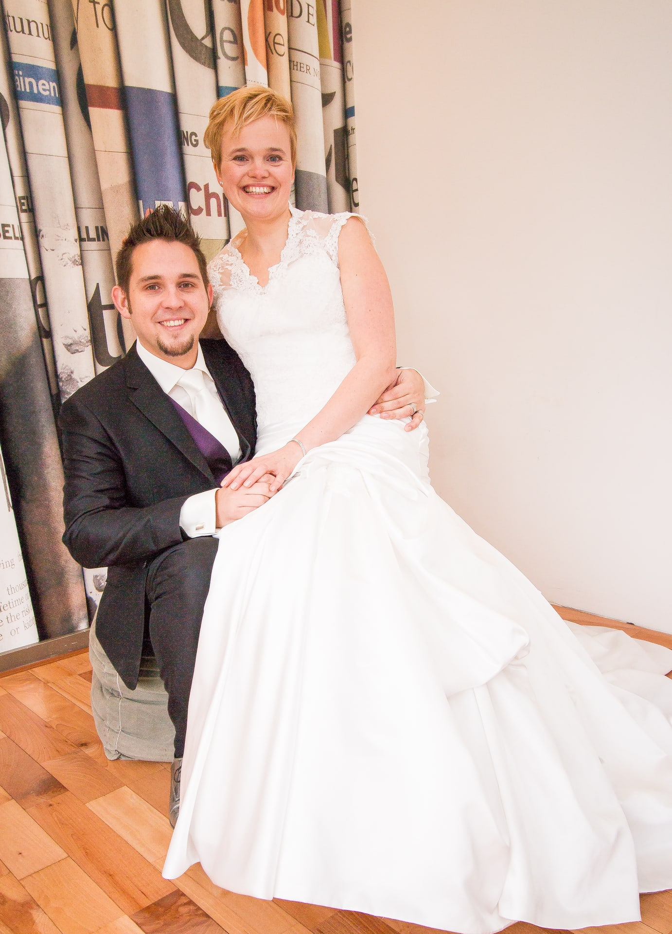 Trouwfotograaf: Bruiloft fotografie Aan ut Water te Lelystad Flevoland