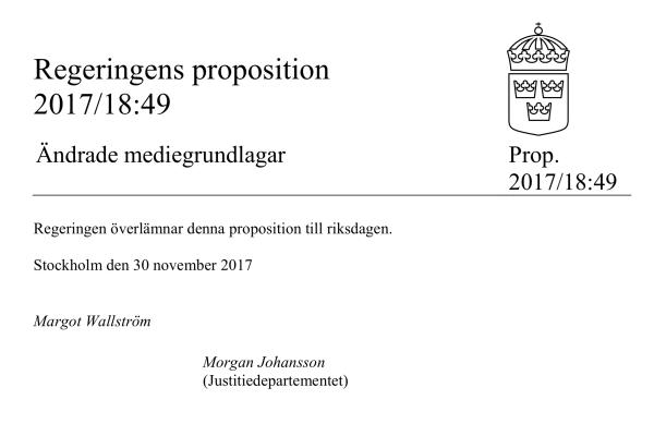 Faksimil proposition