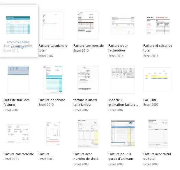 Modèles Excel Pour Facture