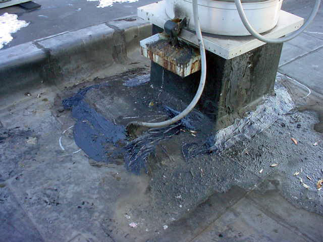 Roof Grease Damage 1