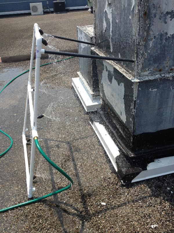 Spray Rack Roof Leak Test