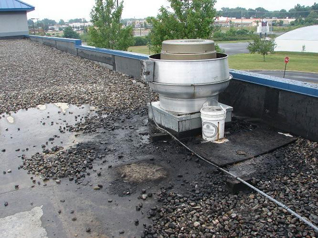 Rooftop Grease Damage 2