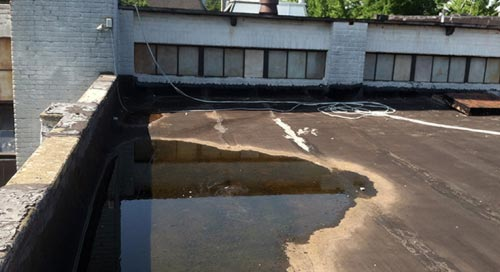 Standing Water on Roof