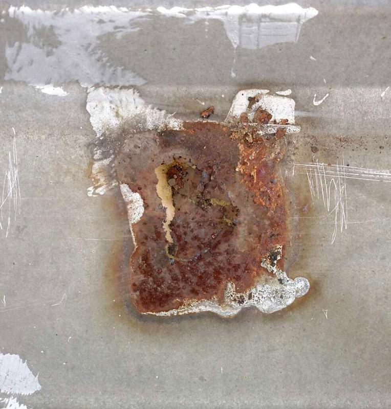 Rust on metal roof