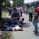 Konvoi Pelantikan Dihadang   Bentrok OKP Pecah  di Perumnas Mandala
