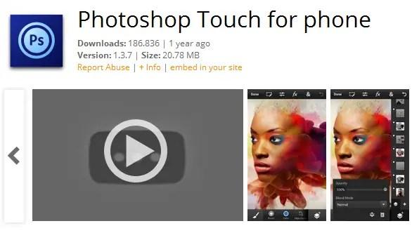 Aplikasi Edit Foto Terbaik dan Gratis Photoshop Touch
