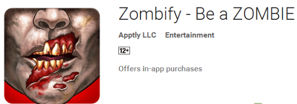 Aplikasi Edit Foto Zombie