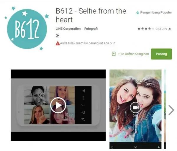 Download Aplikasi Camera B612 Untuk Android Versi Terbaru