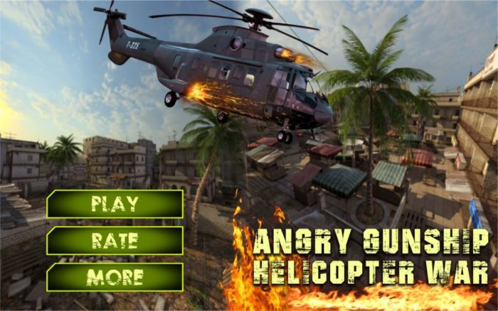 Game perang helikopter android Angry Gunship Helicopter War