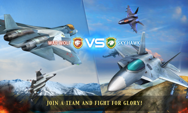Game pesawat tempur android terbaik Modern Air Combat Team Match