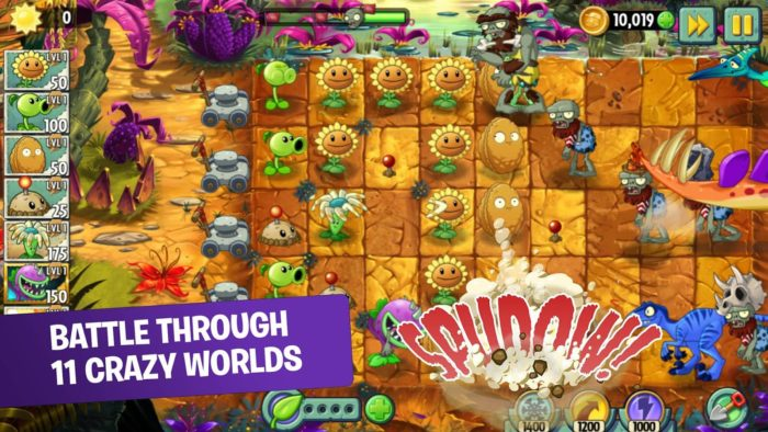 Game strategi android terbaik Plants vs. Zombies 2