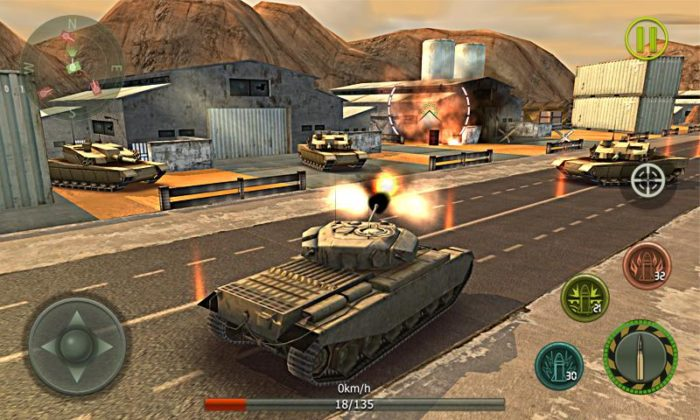 game perang tank android Tank Strike 3D - War Machines