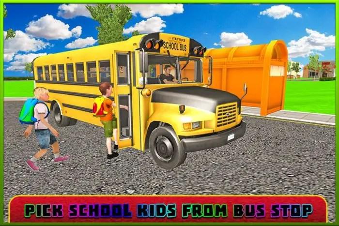 Bus Sekolah Sopir Simulator 3D