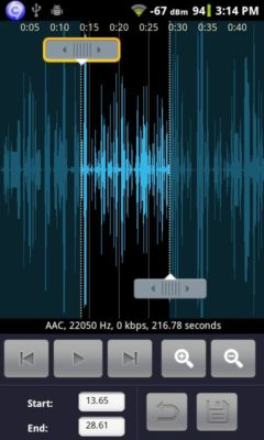 Android Audio Editor
