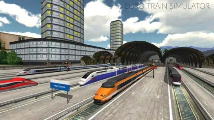 Kereta Api Simulator android Euro Train Simulator