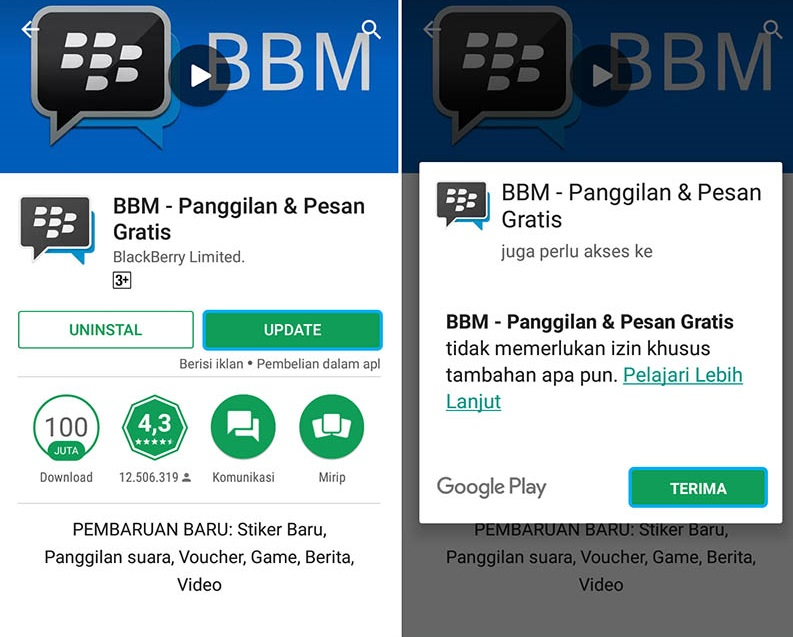 Download BBM Terbaru Via Google Play Store