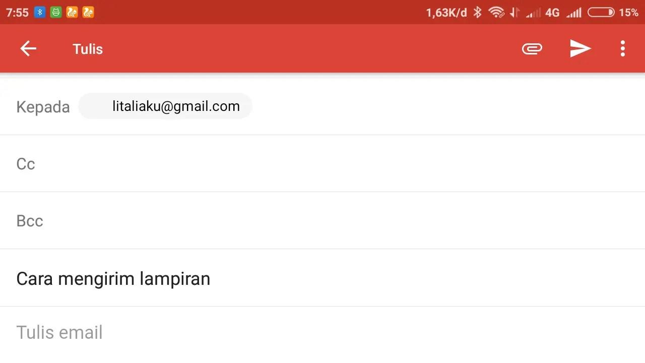 halaman untuk menulis email