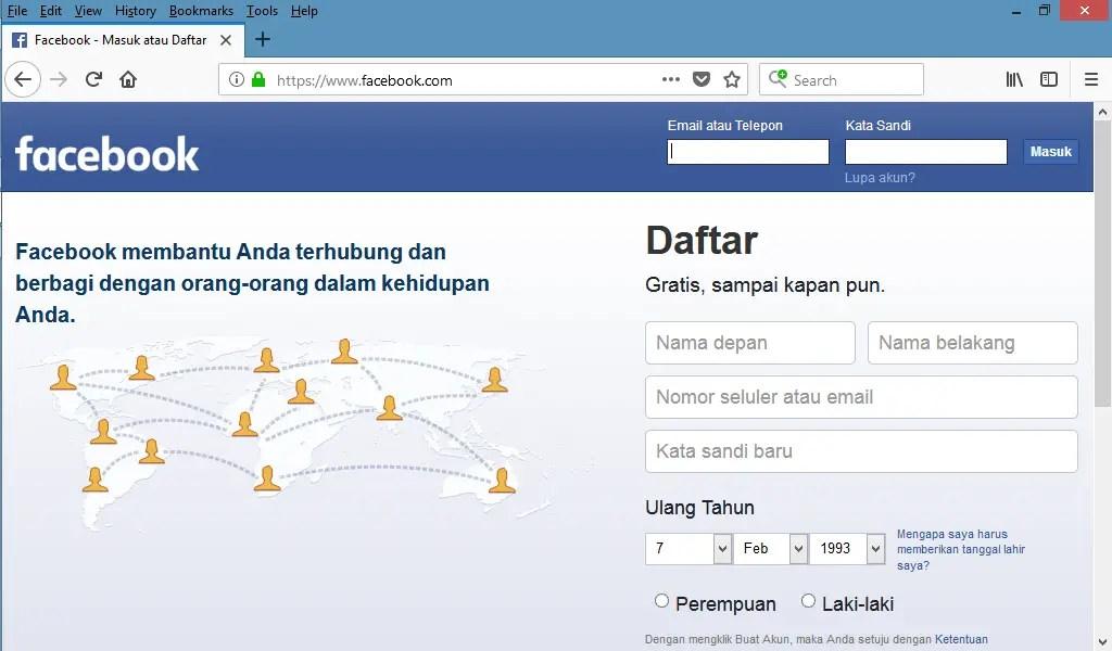 menonaktifkan akun facebook secara permanen
