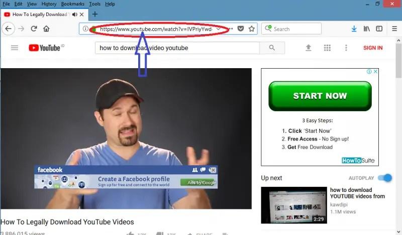 tambahkan save/ kick untuk download video