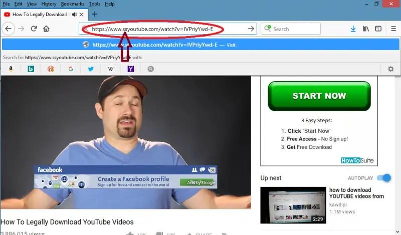 tambahkan ss di depan url video