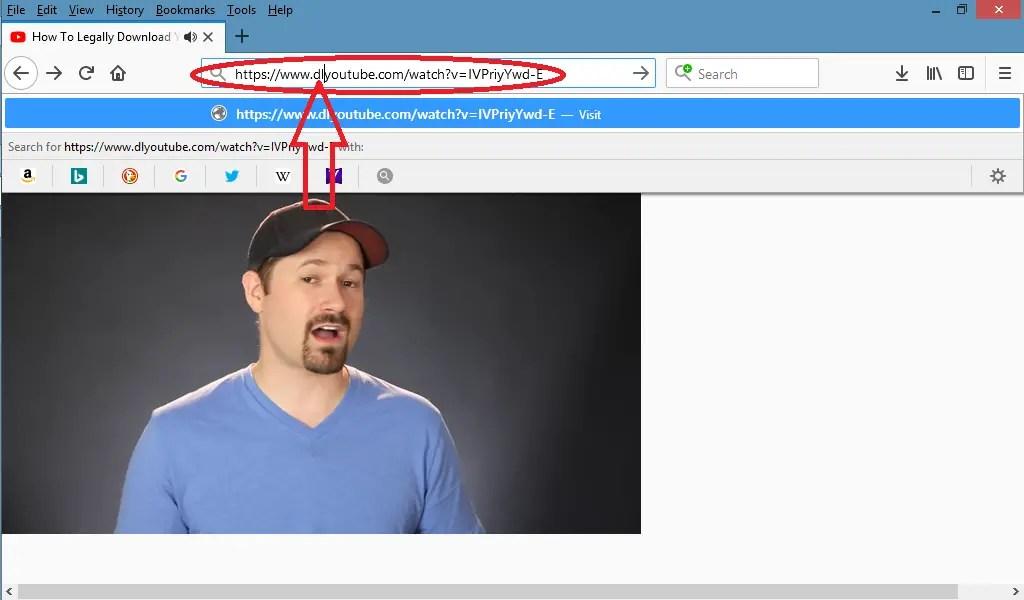 tambahkan dl pada url video