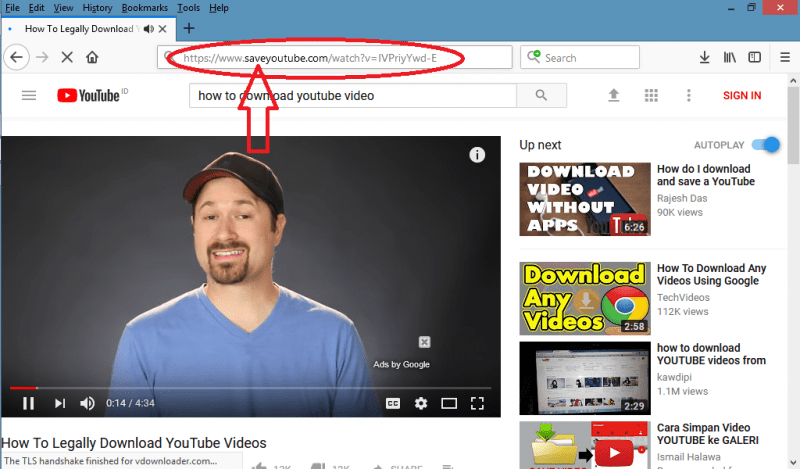 pilih format video youtube