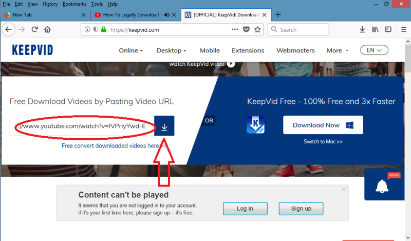 download video menggunakan online downloader