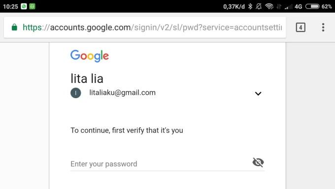 masukkan password lama kamu