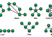 Berbagai Topologi Jaringan (Sumber Gambar Wikipedia.org)