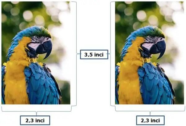 Ukuran Foto 2R dalam Satuan inci