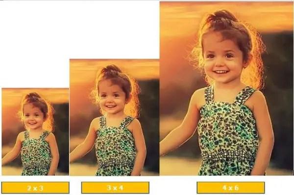contoh ukuran foto 2x3