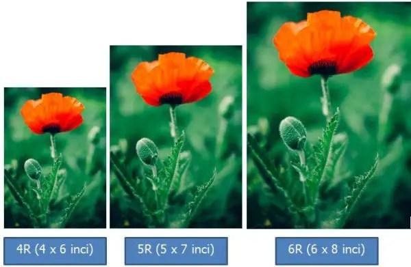 Contoh ukuran foto 6R