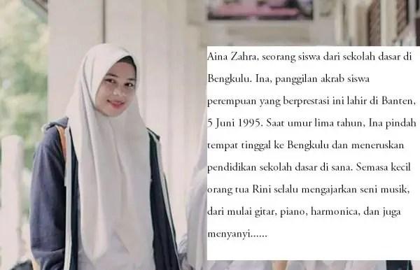 Contoh Biografi Singkat Siswa