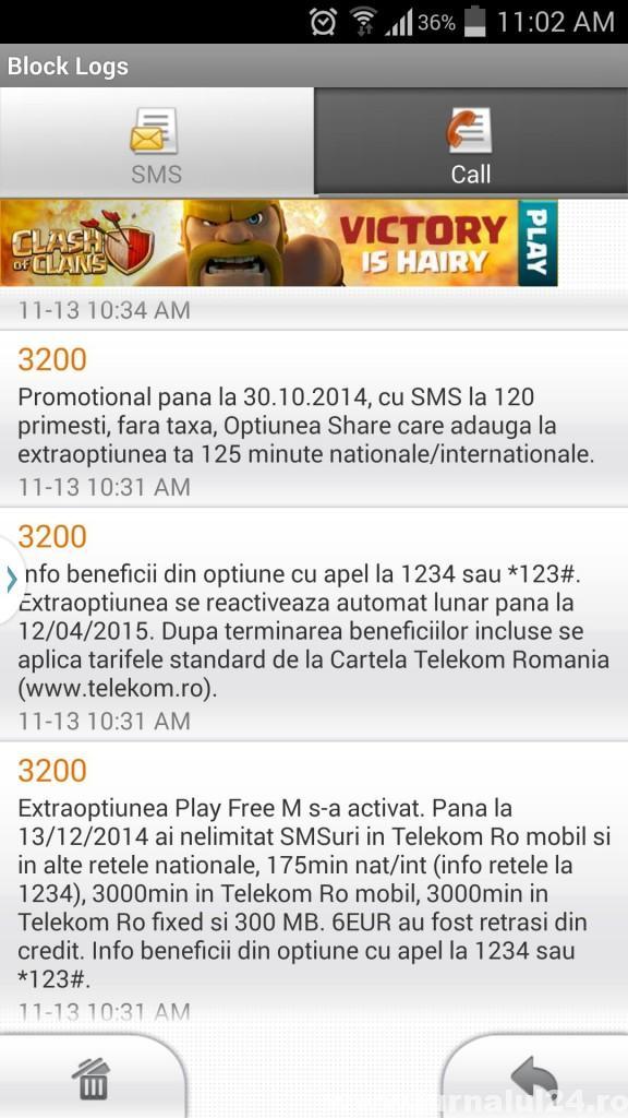 mesaj de la telekom