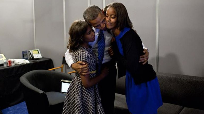obama cu familia