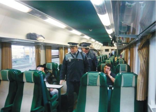 politia tren