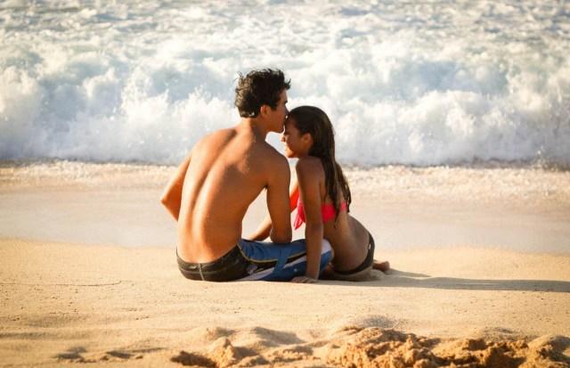 dragoste la plaja