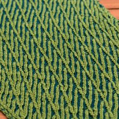 greenleave Schal in zweifarbigem Patent