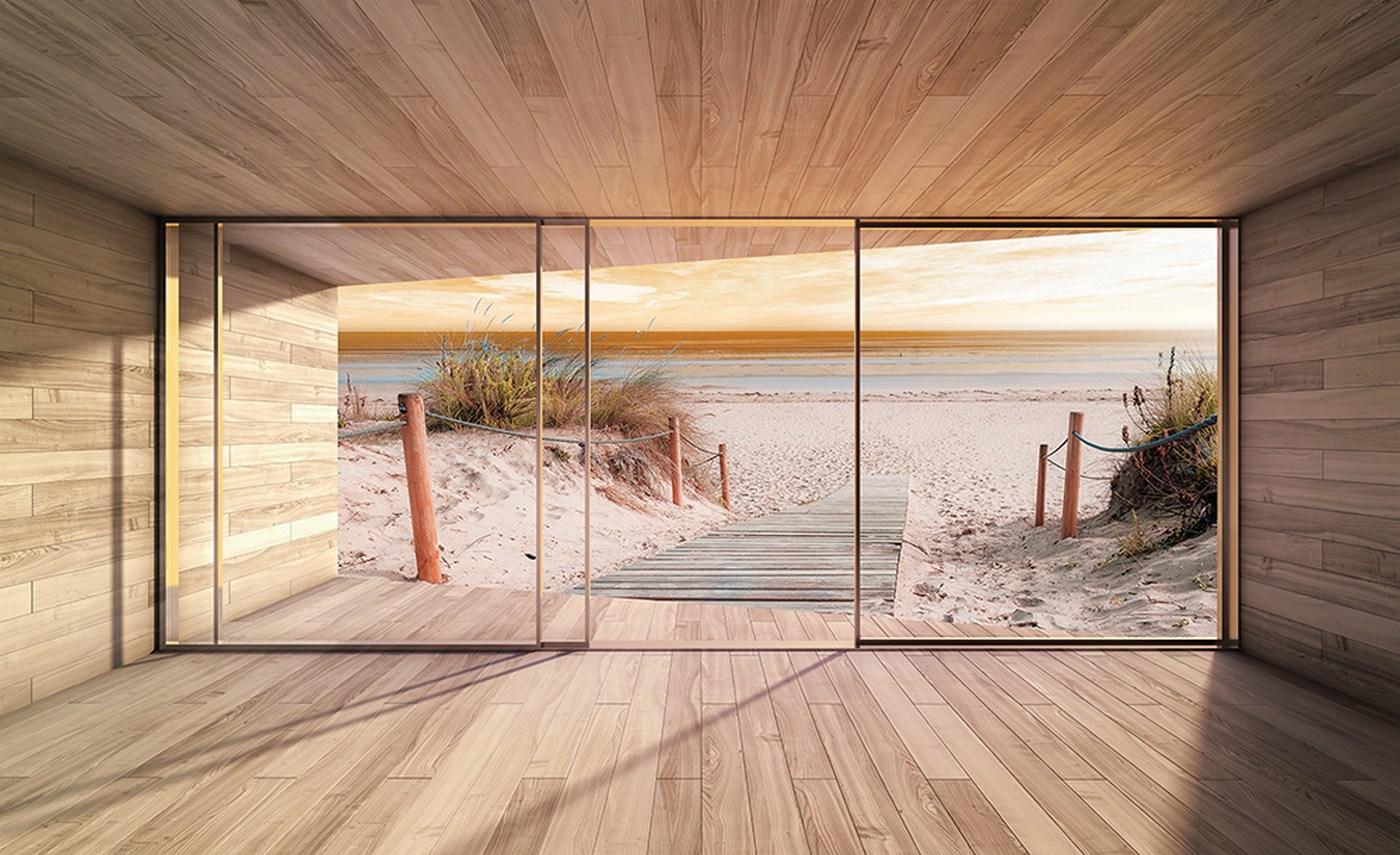 Fototapete Holz