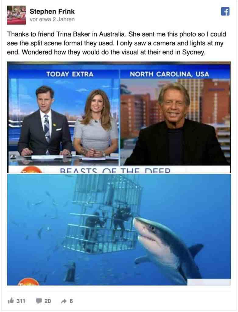 Stephen Frink kündigte seine sensationelle Sichtung auf Facebook an. Screenshot: Facebook/Stephen Frink