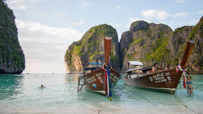 So ein wunderschöner Strand: Die Maya Bay auf Koh Phi Phi ist der Strand aus The Beach. Foto: Pixabay