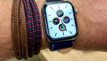 Watch Face der Apple Watch: Smartwatches liefern über die sogenannten Komplikationen auf dem Ziffernblatt die wichtigsten Informationen auf einen Blick. Foto: Sascha Tegtmeyer